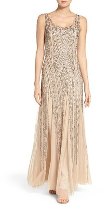 Women's Adrianna Papell Beaded Tank Gown $349 thestylecure.com