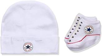 Converse Unisex Baby Hat and Bootie Plain Clothing Set,0-6 Months
