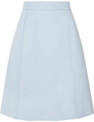 Bottega Veneta Wool-blend Drill Skirt - Blue