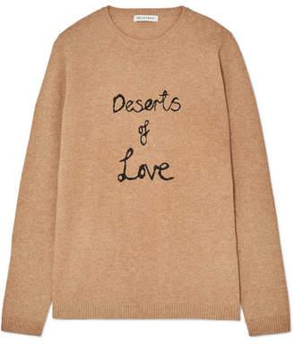 Bella Freud Deserts Of Love Cashmere-blend Sweater - Sand