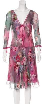 Philosophy di Alberta Ferretti Midi Print Dress