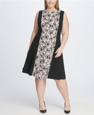 fced70de7f9 Tommy Hilfiger Plus Size Shadow Print Fit and Flare Dress