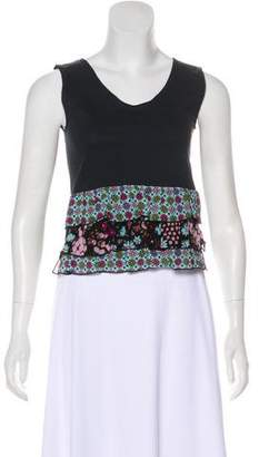 Anna Sui Sleeveless Printed Tiered Top