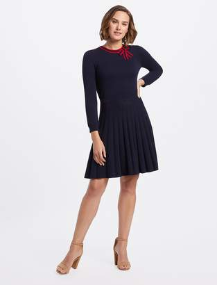 Draper James Sailor Bow Sweater Dress