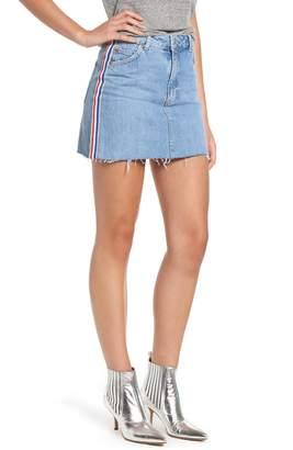 Topshop MOTO Stripe Denim Skirt