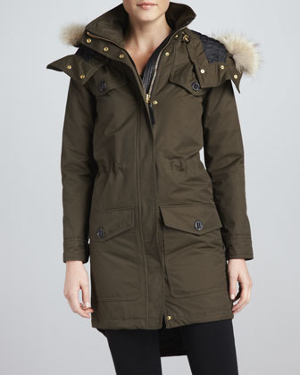 Mackage Cassandra Fur-Trim Parka Coat