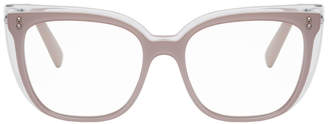 Valentino Purple Garavani Oversized Trompe LOeil Glasses