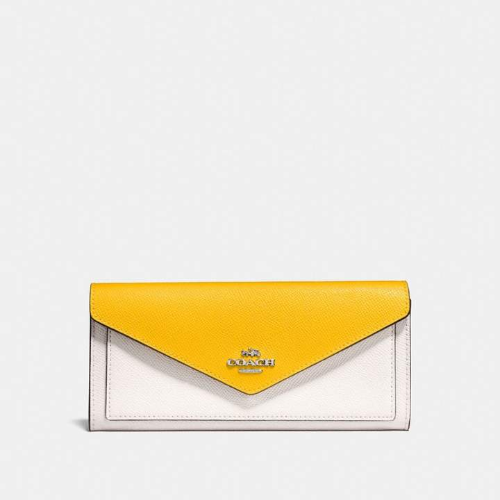 Coach New YorkCoach Soft Wallet In Colorblock - CHALK MULTI/SILVER - STYLE