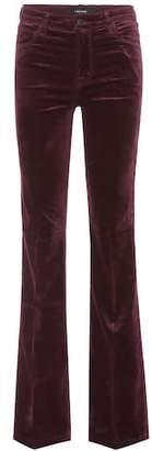 J Brand Maria velvet flare trousers