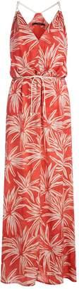 Vix Palm Print Julie Maxi Dress