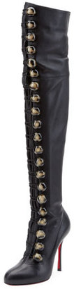 Christian Louboutin Fabiola Button Red Sole Over-the-Knee Boot $2,395 thestylecure.com