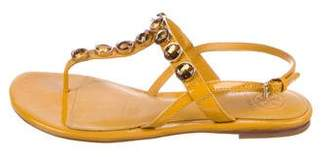 Tory Burch Embellished Patent Leather Sandals