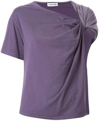 Ground Zero twisted draped T-shirt