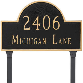 Montague Metal Products 2-Line Lawn Address Sign