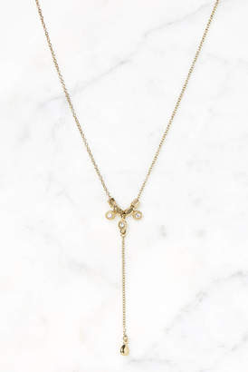 Luv Aj Gold Moroccan Stud Lariat Choker Necklace