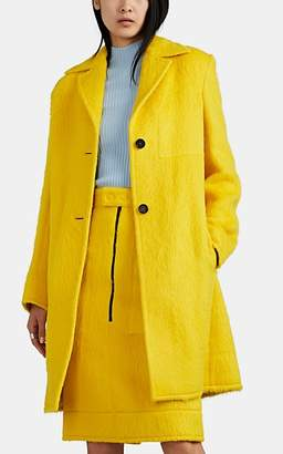 Kwaidan Editions Women's Fuzzy-Knit Two-Button Coat - Yellow