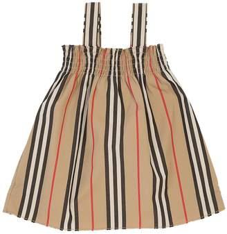 Burberry Woven Striped Cotton Dress