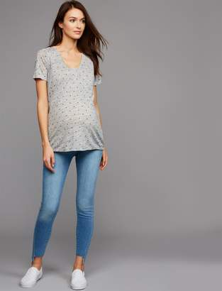 7 For All Mankind Pea Collection Secret Fit Belly Ankle Skinny Maternity Jeans