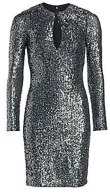 Naeem Khan Women's Long-Sleeve Sequin Dress