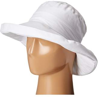 San Diego Hat Company CTH4077 Linen Fabric w/ Kettle Brim Caps