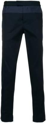 Les Hommes Urban panelled straight-leg trousers