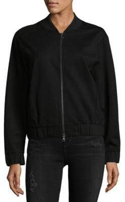 Vince Zip-Up Bomber Jacket