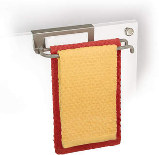 Lynk Nickel Over-Cabinet-Door Pivoting Towel Bar