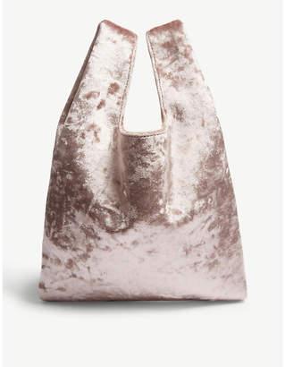 Hayward Pale Pink Velvet Mini Tote Bag