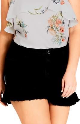 City Chic Flirty Frill Shorts