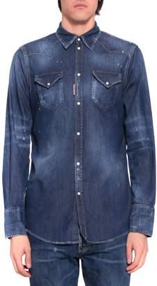 DSQUARED2 Cotton Denim Shirt