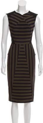 Roland Mouret Striped Midi Dress