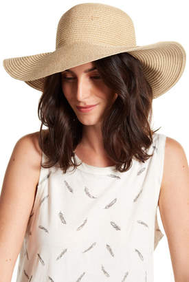 David & Young Vitamin Sea Embroidered Straw Floppy Hat