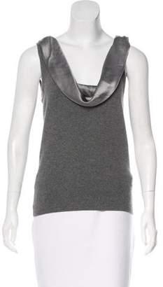 Ralph Lauren Black Label Silk-Trimmed Cashmere Top
