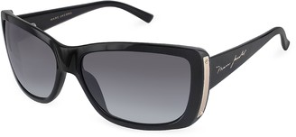 Marc Jacobs Plastic Rectangular Signature Temple Sunglasses