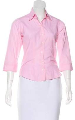 Thomas Pink Long Sleeve Button-Up Top