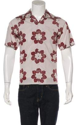 Prada 2016 Floral Patterned Shirt