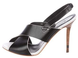 Fendi Crossover Slingback Sandals