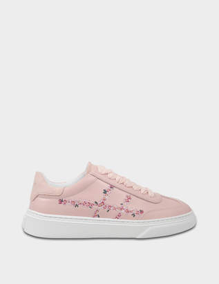 Hogan H258 Traditonal Suede Sneakers in Pink Leather