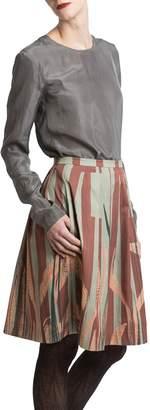 Clara Kaesdorf Skirt Wide Leaves