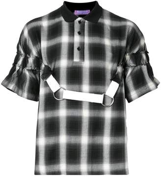 Private Policy plaid polo with harness