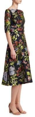 Lela Rose Floral Full Skirt Dress