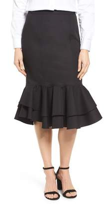 Halogen Ruffle Hem Pencil Skirt