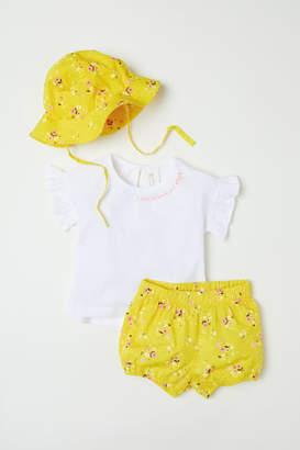 H&M 3-piece Cotton Set - Yellow