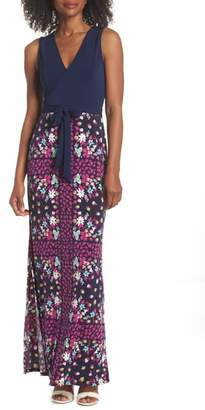 Leota Perfect Faux Wrap Maxi Dress