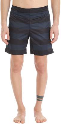 Jil Sander Blue/black Nylon Swimwear