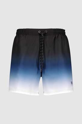 Mens BOSS Blue Ombre Fade Swim Short