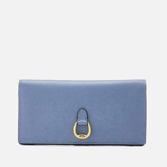 Lauren Ralph Lauren Women's Bennington Slim Medium Wallet - Blue Mist