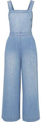 Madewell Open-back Denim Jumpsuit - Blue