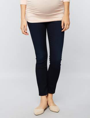 7 For All Mankind Pea Collection Secret Fit Belly B(air) Ankle Skinny Maternity Jeans
