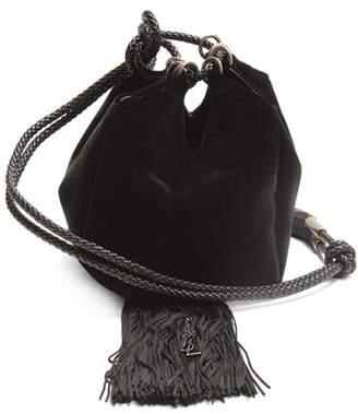 Saint Laurent Mansour Velvet Clutch - Womens - Black